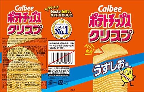 カルビーポテトチップスクリスプうすしお味50g×12個