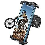 Nulaxy Bicicleta Movil Soporte, Movil Soporte Motocicleta - 360° Rotación Telefono Moto Soporte para iPhone 12 11 Pro MAX, XS MAX, XR, X, 8, Samsung S21 S20 S10 S9+, 4.7-6.8' Smartphones