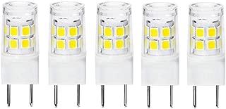 G8 LED Light Bulb 2.5 Watts Daylight White - G8 Base Bi-pin Xenon JCD Type LED 120V 20W Halogen Replacement Bulb for Under Counter Kitchen Lighting, Under-Cabinet Light.Pack of 5