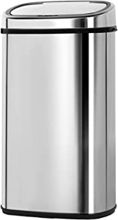 58L Stainless Steel Motion Sensor Rubbish Bin Automatic Trash Can for Home Kitchen Silver
