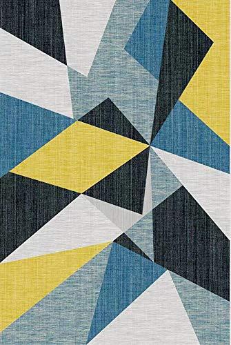 Tapis Moderne Design Tapis Forme Geometrique Grand Tapis Style scandinave pour Salon Salle a Manger Chambre 120 x 160 cm/160x230cm (160*230cm)