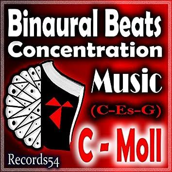 Concentration Music C - Moll ( C - ES - G) (4 Hz - 8 Hz - 22 Hz Binaural Beats) 51 - Hz 150 - Hz 261 Hz (Learning With Music & Aprende Con Musica)