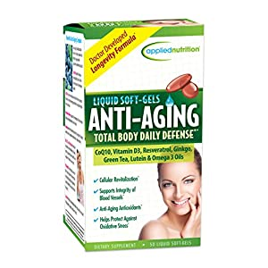 Anti aging products Applied Nutrition Anti-aging Total Body Daily Defense, 50-Count