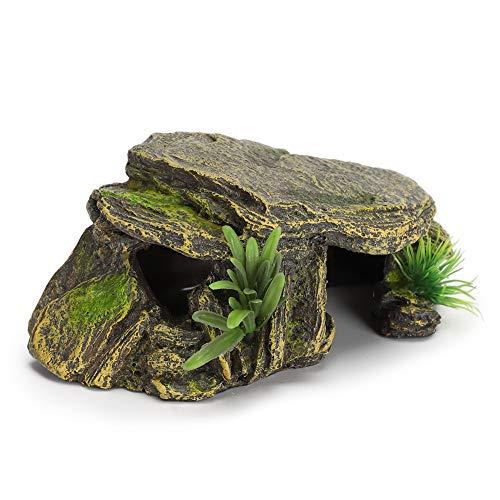 Jeanoko Hábitat de Reptiles de Tortugas Cuevas para esconder Acuario pecera Anfibios vívidos refugios Seguros para decoración de terrarios de Acuario de Tortugas