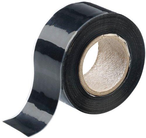 AGT Dichtband: Selbstklebendes Abdichtband, 3 Meter, schwarz (Selbstklebendes Isolierband)