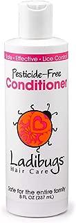 Ladibugs Lice Prevent Conditioner 8oz | Natural, Essential Oils, Sulfate-free | Non-toxic, Pesticide-free | Keep Lice Away!