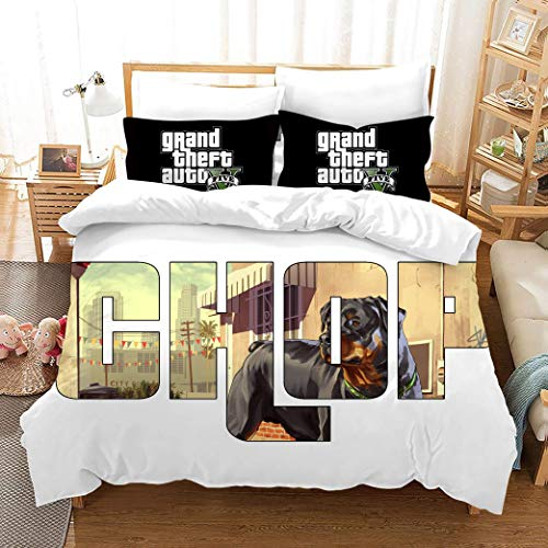 695 Duvet Cover Sets 3D Gtv Printing Child Adult Bedding Set 100% Polyester Gift Duvet Cover 3 Pieces With 2 Pillowcases W-US Full79*90'(200x229cm)