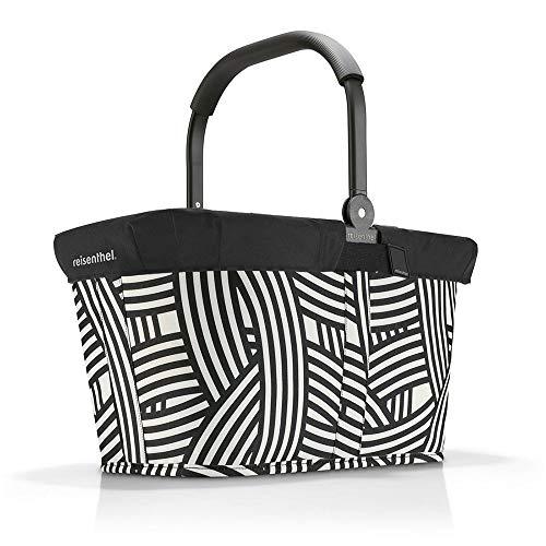 reisenthel Angebot Einkaufskorb carrybag Plus passendes Cover Sichtschutz Abdeckung (Zebra)