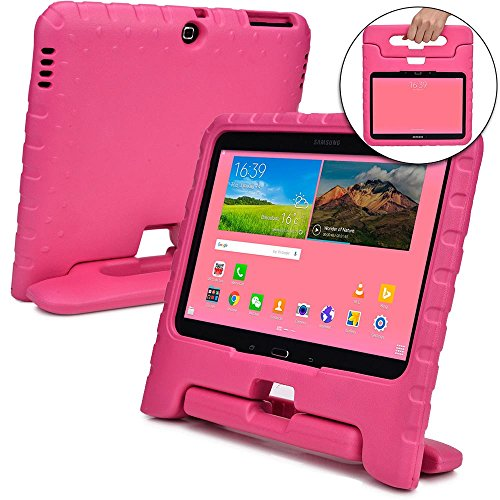Cooper Dynamo [Rugged Kids Case] Protective Case for Samsung Tab 4 10.1, Tab 3 10.1   Child Proof Cover with Stand, Handle   SM-T530 T531 T535 (Pink)