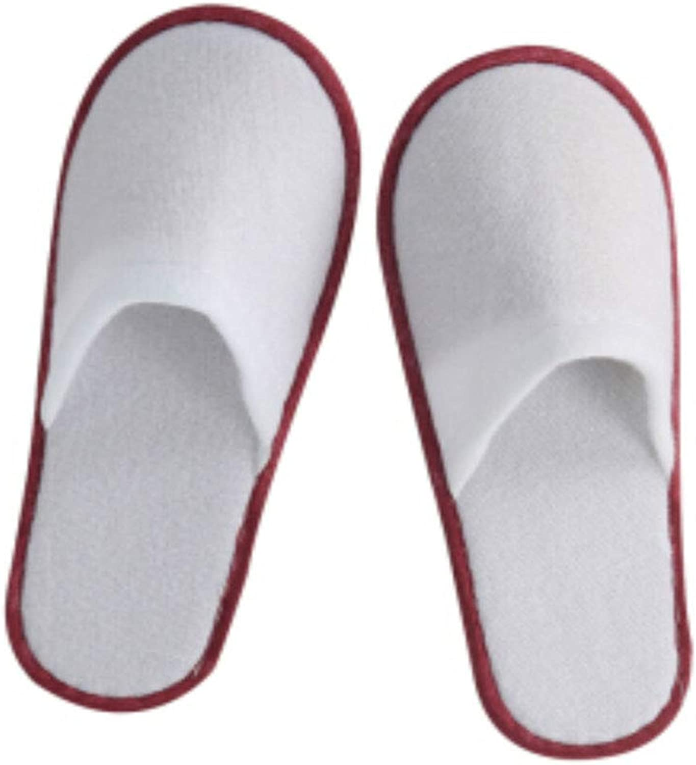GZZ Disposable Slippers White 100 Pairs Summer Slippers Hotel Summer Slippers One-time Thickening Indoor Guests and Men's Household Red Suede Size 100 Pairs (color   White, Size   29.5  11.5cm)