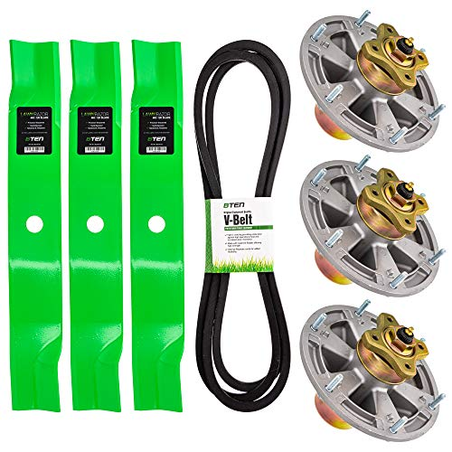8TEN Deck Rebuild Kit for John Deere 60 inch Z920M Z925M Z930M Z930R Z945M Z950M Z950R Z955M ZTrak Blade Spindle Belt