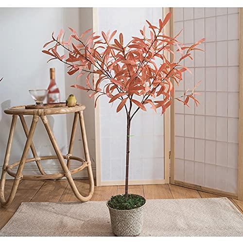 Árbol de simulación Hermosa Planta en Maceta de olivos Artificiales, árbol Artificial fácil de Limpiar, Disponible en Dos Colores, 1 Pieza. Árboles Artificiales (Color : Pink)