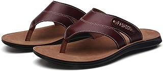 N-A Sandalen, zomer heren platte onderkant ademende lederen pantoffels heren outdoor vrije tijd flipflops, herenschoenen, ...