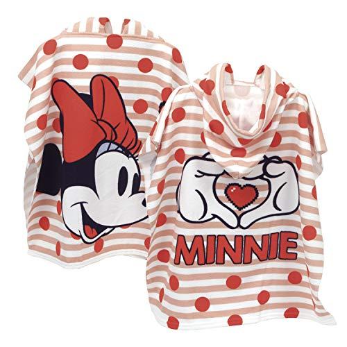 ARDITEX WD12939 Poncho de Microfibra con Capucha de 55X55cm de Disney-Minnie