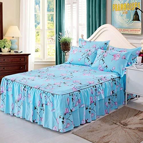 LPNJLALA Bett Rock Europäische Blume gedruckt Spannbettuch Bequeme Bedsheet König Queen Size Bedspread Matratzenbezug,Bed skirt11,Bett Rock 180x200cm