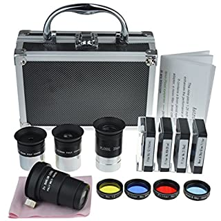Gosky Astronomical Telescope Accessory Kit - with Telescope Plossl Eyepieces Set, Filter Set, 2X Barlow Lens (B015AUANUQ)   Amazon price tracker / tracking, Amazon price history charts, Amazon price watches, Amazon price drop alerts