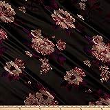 Ben Textiles Inc. 0679571 Flower Brocade Brown Fabric