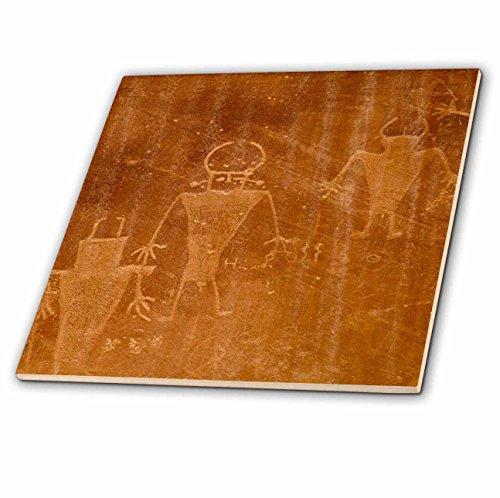 3dRose CT 94706_ 5Petroglyphs, Fremont Menschen, Capitol Reef NP, utah-us45cha0222-chuck Haney-Glass Fliesen, 4-Zoll
