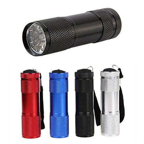 9led lumière noire UV Lampe de poche, Starall l'argent détecteur Hunter Finder Ultra Violet Blacklight lampe de poche torche lumière Lanterne, noir