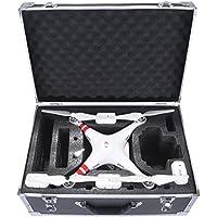 Crazepony-UK Bolso for dji Phantom 3 Standard Carrying Case Aluminum Hard Travel Box Professional Advanced for Drone dji Phantom 4 Accesorios Quadcopter by