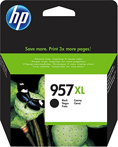 HP 957XL L0R40AE - Cartuccia originale ad alta capacità da 3.000 pagine per HP OfficeJet Pro serie 8200 e HP OfficeJet Pro serie 8700 All-in-One, Nero