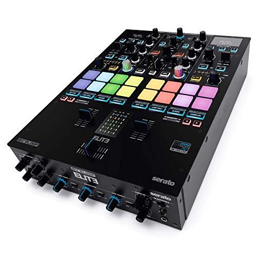 Reloop ELITE Professioneller DVS Performance Mixer für Serato DJ Pro, 16 große, anschlagsdynamische RGB Performance Pads
