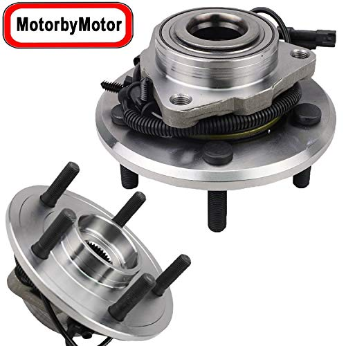 Price comparison product image Front Wheel Bearing and Hub Assembly Replacement for 2012 2013 2014 2015 2016 2017 2018 Dodge Ram 1500,  2019 Dodge Ram 1500 Classic Hub Bearing (2 Pack) w / ABS 5 Lugs-515151