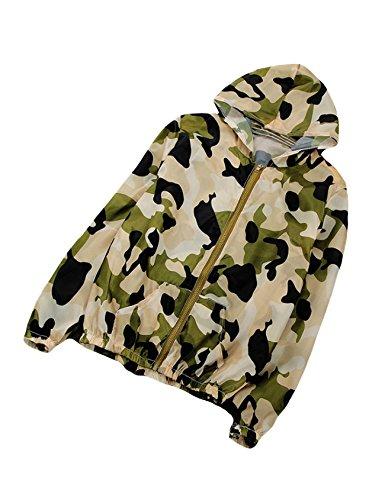 Letuwj Damen Ultraleicht Ultra Anti-UV Regenjacke Sonnenschutz Jacke Armee Grün Tarnung Einheitsgröße