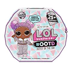 Unbox 25+ surprises with L.O.L. Surprise #ootd outfit of the day winter disco Includes 1 exclusive L.O.L. Surprise doll - snow jamz 24 exclusive L.O.L. Surprise fashion pieces, including outfits, shoes, and accessories. Mix & match fashions for endle...