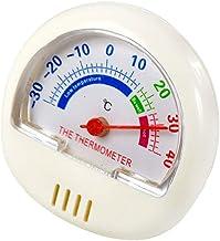 Szaerfa Pequeño termómetro análogo al aire libre interior lindo para la pantalla celsius de la cocina del invernadero del sitio del bebé de la fábrica (blanco)