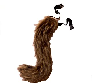 COSFLY Faux Fur Tail for Adult/Teen Furry Wolf Dog Fox Puppy Costume Halloween Party Cosplay Props