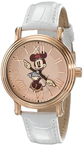 Disney Women's W001857 Minnie Mouse Analog Display Analog Quartz White Watch