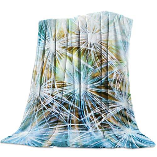 Manta de tiro ligera, súper suave y muy acogedora, mantas de cama de lujo, diente de león Mantas Para 125 X 100CM