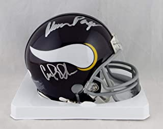 Purple People Eaters Signed Mini Helmet - Auth - JSA Certified - Autographed NFL Mini Helmets