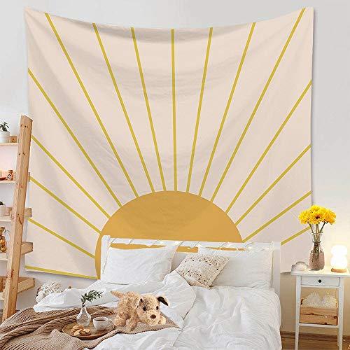 Tapiz nórdico arcoíris sol y luna elefante tapiz montado en la pared tapiz de playa alfombra de fondo tapiz de tela A6 180x200cm