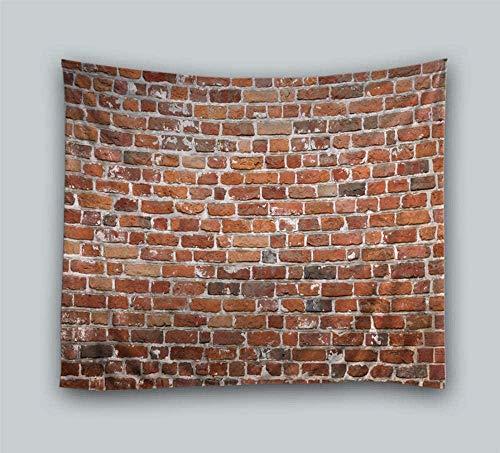 giyiohok Tapiz de pared de ladrillo rojo Tapiz colgante de pared , tapiz de pared étnico, tapiz de pared indio, manta de alfombra de pared natural, tela para colgar en la pared, 150 cm x 200 cm