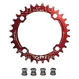 upanbike bicicleta Narrow Wide plato 104 BCD forma redonda sola cadena anillo dientes - dientes 32T, rojo