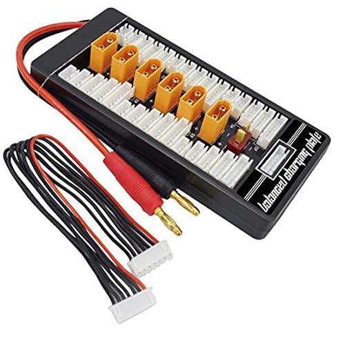 BiaBai HotRc XT60 2S-6S enchufe Lipo batería placa de carga paralela para RC IMAX B6 cargador coche Drone parte de carga de equilibrio