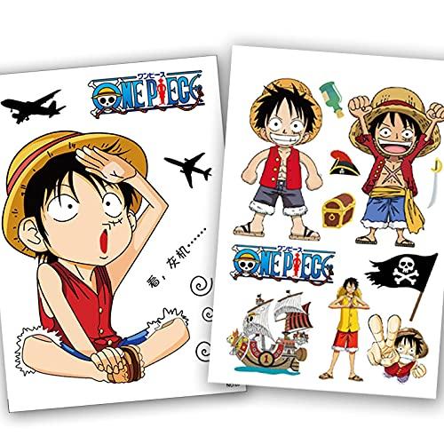 YMSD Un Anime Pegatinas Pieza Maleta Dibujos Animados Grandes Pegatinas Luffy Anime Maleta Trolley Caso Pegatinas Papel Pintado Etiqueta Impermeable