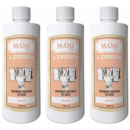 MAMI Milano L'Essenza, Profuma Bucato per Lavatrice, Confezione da 3x500ml - Argan
