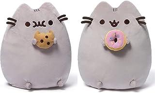 "GUND Pusheen Snackables Cookie Plush Stuffed Animal Cat, 9.5"" & GUND Pusheen Snackables Donut Plush Stuffed Animal Cat, 9.5"""