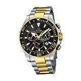 JAGUAR, J862 / 2 Ejecutivo, Cronógrafo de reloj Fabricado en Suiza para hombres, Material Acero inoxidable 316L, Caja Diámetro de 43,5 mm, 20 ATM, Zafiro de cristal