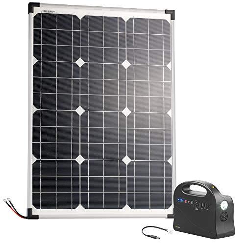 reVolt Solar Konverter: Solar-Strom-Set mit Generator-Powerbank & 50-Watt-Solarpanel, 26,4 Ah (Powerbank Solar Konverter)