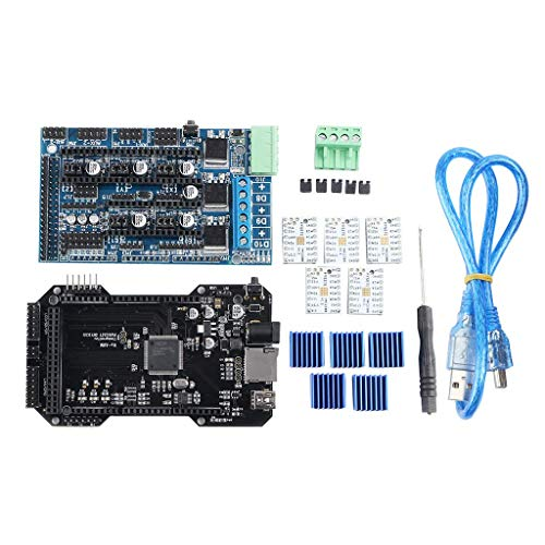 ZUQIEE Stepper Motor 3D Printer Upgrade Control Board RE-ARM Controller+Ramps1.5+5pcs TMC2208 Stepper Motor Drivers+5pcs Heatsinks