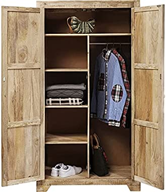 Modern Vivid Sahara Contemporary Mango Wood Cabinet Wardrobe Cupboard Handicraft (Made to Order)
