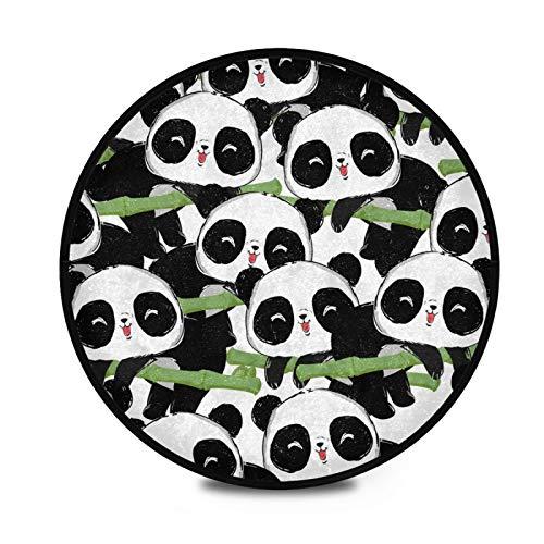 FULUHUAPIN Alfombras circulares de peluche para niñas de 91,9 cm de diámetro para dormitorio de niños, habitación de bebé, sala de juegos, alfombras tipee y guardería 2032047