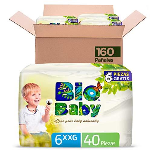 Bio Baby Pañales, Talla XX Grande/6, 160 Pañales