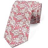 Cravate, bouquet de fleurs fraîches, blanc rose pâle vert