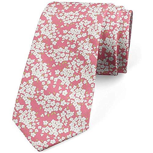 Cravatta, mazzo di fiori freschi, bianco rosa verde pallido