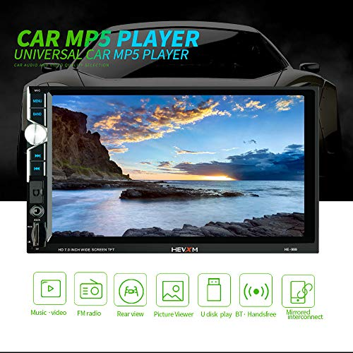 MSG ZY 7-inch HD dubbel-Din-autoradio-ontvanger, Android 8.1 touchscreen MP5 multimedia-speler, ondersteuning Bluetooth FM-radio achteruitrijcamera